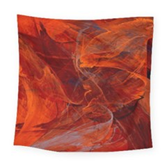 Swirly Love In Deep Red Square Tapestry (large) by designworld65