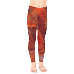 Swirly Love In Deep Red Kids  Legging