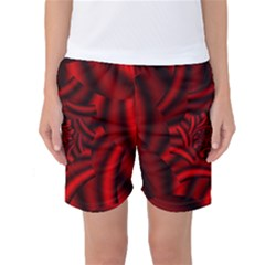 Metallic Red Rose Women s Basketball Shorts