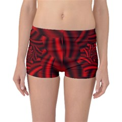 Metallic Red Rose Boyleg Bikini Bottoms