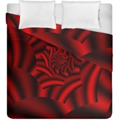 Metallic Red Rose Duvet Cover Double Side (king Size)