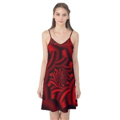 Metallic Red Rose Camis Nightgown