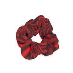 Metallic Red Rose Velvet Scrunchie by designworld65