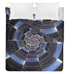 Midnight Crazy Dart Duvet Cover Double Side (queen Size) by designworld65