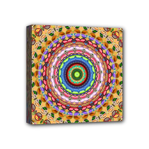 Peaceful Mandala Mini Canvas 4  X 4  by designworld65