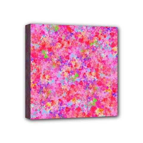 The Big Pink Party Mini Canvas 4  X 4  by designworld65