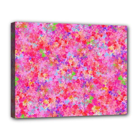 The Big Pink Party Canvas 14  X 11  by designworld65