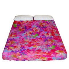 The Big Pink Party Fitted Sheet (queen Size) by designworld65