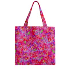 The Big Pink Party Zipper Grocery Tote Bag by designworld65