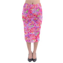 The Big Pink Party Midi Pencil Skirt by designworld65
