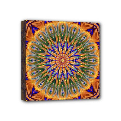 Powerful Mandala Mini Canvas 4  X 4  by designworld65