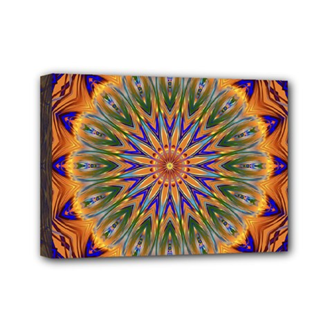 Powerful Mandala Mini Canvas 7  X 5  by designworld65