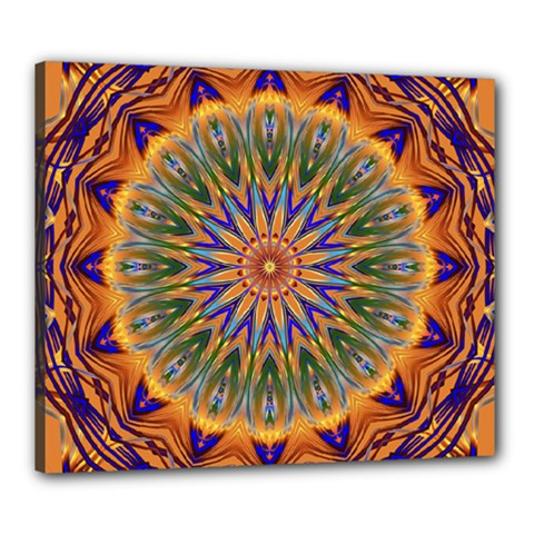 Powerful Mandala Canvas 24  X 20  by designworld65