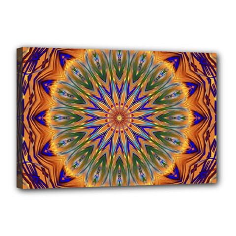 Powerful Mandala Canvas 18  X 12  by designworld65