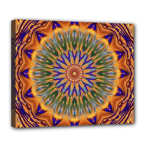 Powerful Mandala Deluxe Canvas 24  X 20   by designworld65