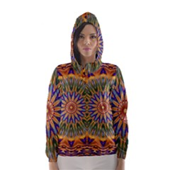 Powerful Mandala Hooded Wind Breaker (women) by designworld65