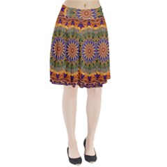 Powerful Mandala Pleated Skirt