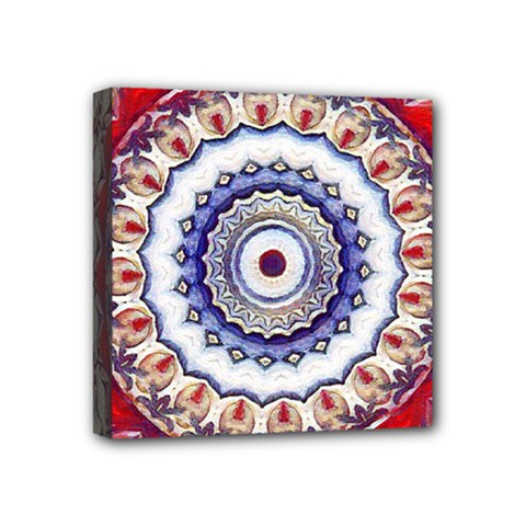 Romantic Dreams Mandala Mini Canvas 4  X 4  by designworld65