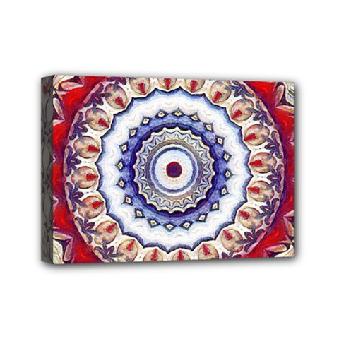 Romantic Dreams Mandala Mini Canvas 7  X 5  by designworld65