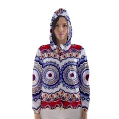 Romantic Dreams Mandala Hooded Wind Breaker (women) by designworld65