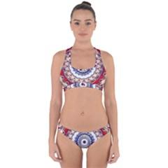 Romantic Dreams Mandala Cross Back Hipster Bikini Set by designworld65