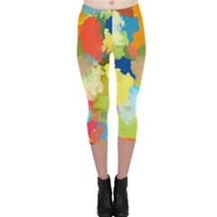 Summer Feeling Splash Capri Leggings  by designworld65