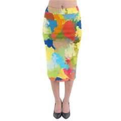 Summer Feeling Splash Midi Pencil Skirt by designworld65