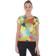 Summer Feeling Splash Short Sleeve Sports Top  by designworld65