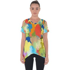 Summer Feeling Splash Cut Out Side Drop Tee by designworld65