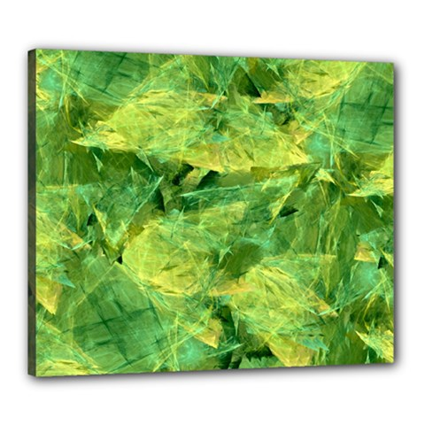 Green Springtime Leafs Canvas 24  X 20  by designworld65
