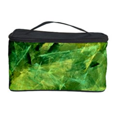 Green Springtime Leafs Cosmetic Storage Case by designworld65