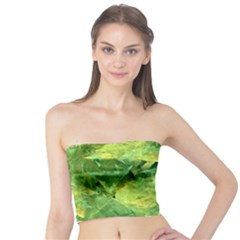 Green Springtime Leafs Tube Top by designworld65