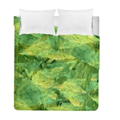 Green Springtime Leafs Duvet Cover Double Side (full/ Double Size) by designworld65