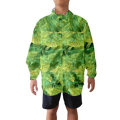 Green Springtime Leafs Wind Breaker (kids) by designworld65