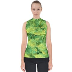 Green Springtime Leafs Shell Top by designworld65