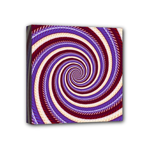 Woven Spiral Mini Canvas 4  X 4  by designworld65
