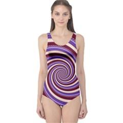 Woven Spiral One Piece Swimsuit by designworld65