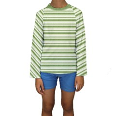 Spring Stripes Kids  Long Sleeve Swimwear