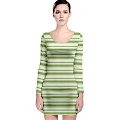 Spring Stripes Long Sleeve Bodycon Dress