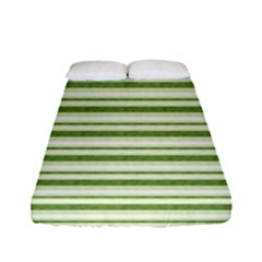 Spring Stripes Fitted Sheet (full/ Double Size) by designworld65