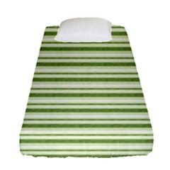 Spring Stripes Fitted Sheet (single Size) by designworld65