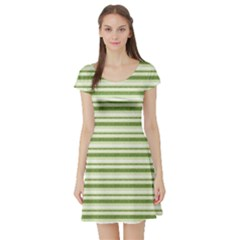 Spring Stripes Short Sleeve Skater Dress