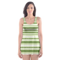 Spring Stripes Skater Dress Swimsuit