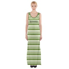 Spring Stripes Maxi Thigh Split Dress by designworld65