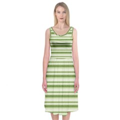 Spring Stripes Midi Sleeveless Dress