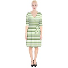 Spring Stripes Wrap Up Cocktail Dress by designworld65