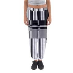 Black And White Endless Window Women s Jogger Sweatpants by designworld65
