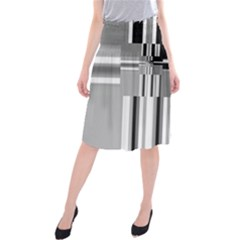 Black And White Endless Window Midi Beach Skirt by designworld65