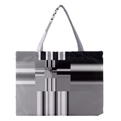 Black And White Endless Window Medium Tote Bag by designworld65