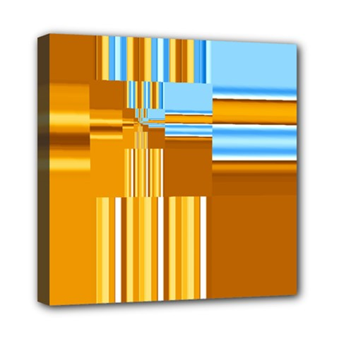Endless Window Blue Gold Mini Canvas 8  X 8  by designworld65